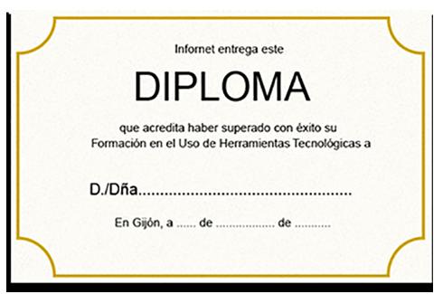 Diploma otorgado por infornet