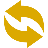 icono de doble flecha formando un círculo
